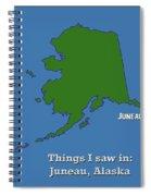 Juneau Alaska Spiral Notebook