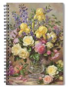 June's Floral Glory Spiral Notebook