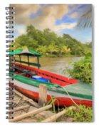 Jungle Boat Spiral Notebook