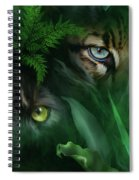 Jungle Eyes - Panther And Ocelot  Spiral Notebook