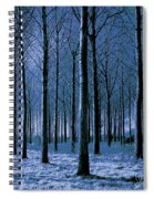 Jungle Trees In Blue  Spiral Notebook