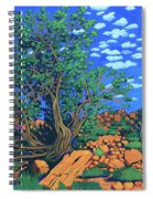 Juniper Trees And Deer Spiral Notebook