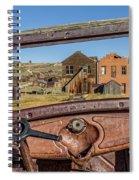 Junk Car Window View Spiral Notebook