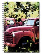 Junked Fire Engines Spiral Notebook