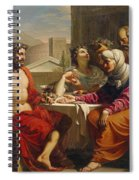 Jupiter And Mercury At Philemon And Baucis Spiral Notebook