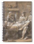 Jupiter And Mercury In The House Of Baucis And Philemon Spiral Notebook