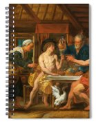 Jupiter And Mercury In The House Of Philemon And Baucis Spiral Notebook