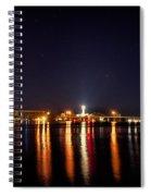 Jupiter Florida  Inlet Lighthouse At Night Spiral Notebook