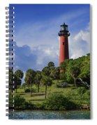 Jupiter Lighthouse Sq Spiral Notebook