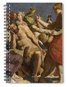 Jupiter Rebuked By Venus On Mount Olympus  Spiral Notebook