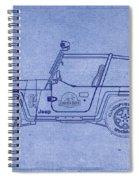 Jurassic Park Jeep Blueprint Spiral Notebook