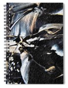 Just Black And White Spiral Notebook