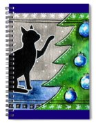 Just Counting Balls - Christmas Cat Spiral Notebook