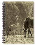 Just Like Mom - Sepia Spiral Notebook