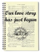 Just Married Wedding Gift Spiral Notebook