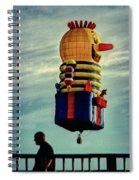 Just Passing Through  Hot Air Balloon Spiral Notebook