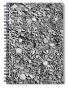 Just Rocks - Black And White Spiral Notebook