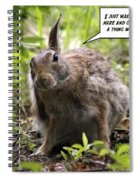 Just Washed My Hare Spiral Notebook