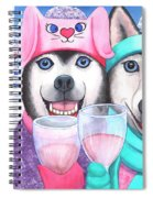 Just Wining In A Winter Wonderland Spiral Notebook