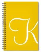 K In White Simple Script Spiral Notebook