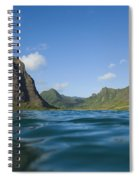 Kaaawa Valley From Ocean Spiral Notebook