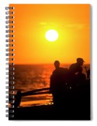 Kaanapali Beach Outrigger Sunset Spiral Notebook