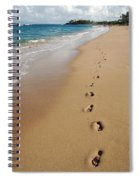 Kaanapali Footprints In The Sand Spiral Notebook
