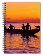 Maui Hawaii Kaanapali Outrigger Sunset Spiral Notebook