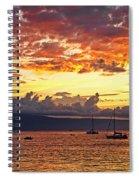 Ka'anapali Sunset Fire Spiral Notebook