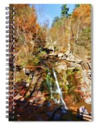 Flows Down The Cliff Spiral Notebook