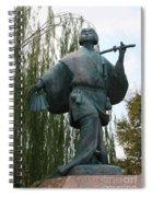 Kabuki Dancer Statue In Kyoto Spiral Notebook