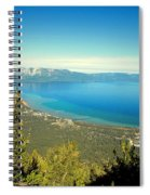 Lake Tahoe From The Top Of Heavenly Gondola Spiral Notebook