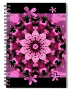 Kaleidoscope 1 With Black Flower Framing Spiral Notebook
