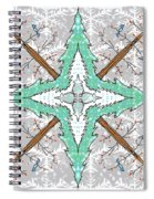 Kaleidoscope Of Winter Trees Spiral Notebook