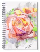 Kaleidoscopic Rose Spiral Notebook