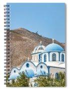 Kamari Church And Mountain Spiral Notebook