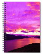 Kamloops Lake At Dawn Spiral Notebook