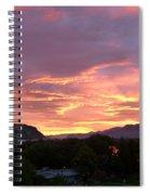 Kamloops Sunset 2 Spiral Notebook