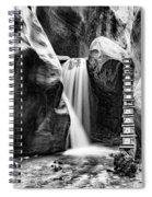 Kanarraville Falls Bw Spiral Notebook