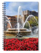 Kansas City Fountain Ablaze In Crimson Spiral Notebook