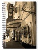 Kansas City - Gem Theater Sepia 2 Spiral Notebook