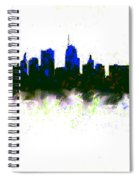 Kansas City Skyline Blue  Spiral Notebook