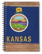 Kansas Rustic Map On Wood Spiral Notebook