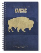 Kansas State Facts Minimalist Movie Poster Art Spiral Notebook