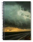 Kansas Storm Chase Bust Day 004 Spiral Notebook