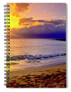 Kapalua Bay Sunset Spiral Notebook