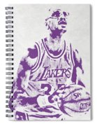 Kareem Abdul Jabbar Los Angeles Lakers Pixel Art Spiral Notebook