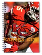Kareem Hunt, Kansas City Chiefs Spiral Notebook