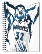 Karl Anthony Towns Minnesota Timberwolves Pixel Art Spiral Notebook