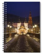 Karl Theodor Bridge With The Castle Spiral Notebook
